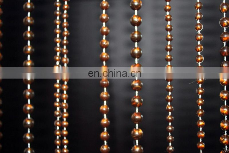 Multi Brown Ball Chains Beaded Curtains