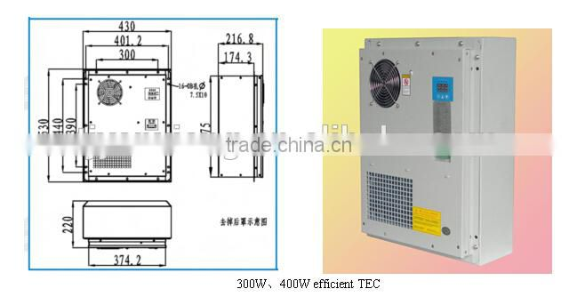 48v dc air conditioner/300W peltier cooler/TEC air conditioning/cooler and heater/door mount or side mount