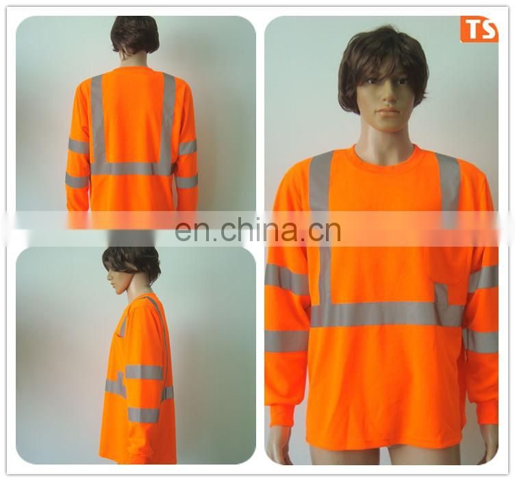 EN20471 Class 3 safety T-shirt with long sleeve