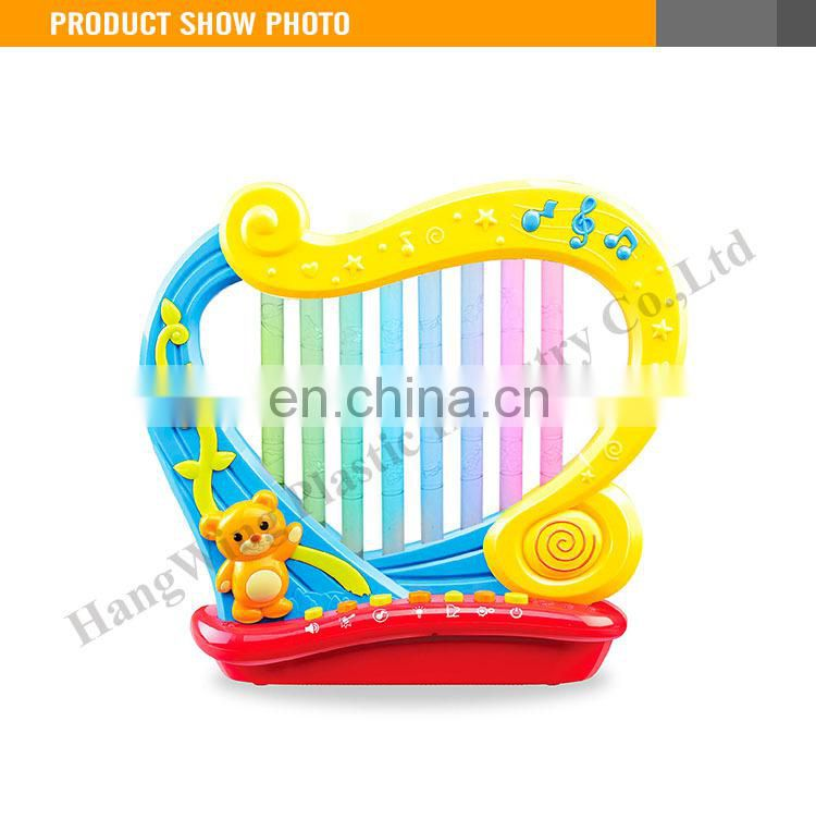 2015 New Design kids b/o plastic harp musical instruments toy