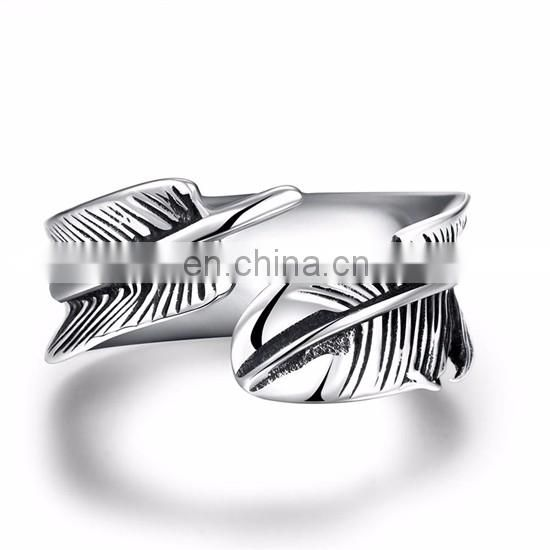 2017 New Stainless Steel Cool Plunk Unisex Rings with Wholesale Price