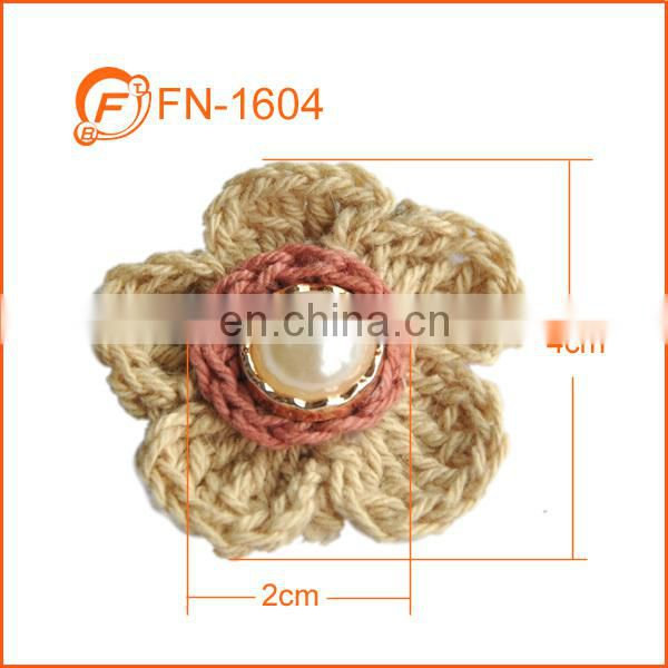 small size raw white crochet flower trim for kids