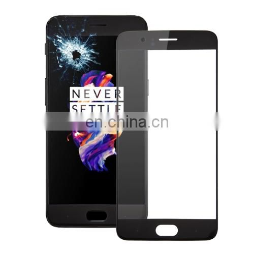 dropshipping High quality iPartsBuy OnePlus 5 Front Screen Outer Glass Lens(Black)