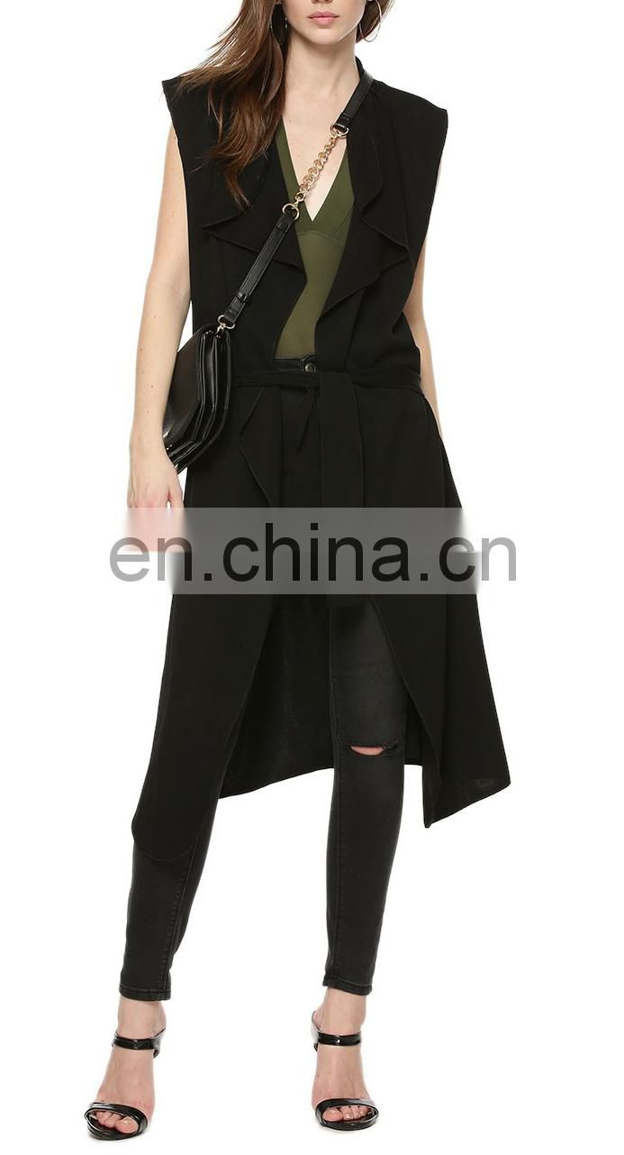 Beautiful Sleeveless Belted Coatigan for women