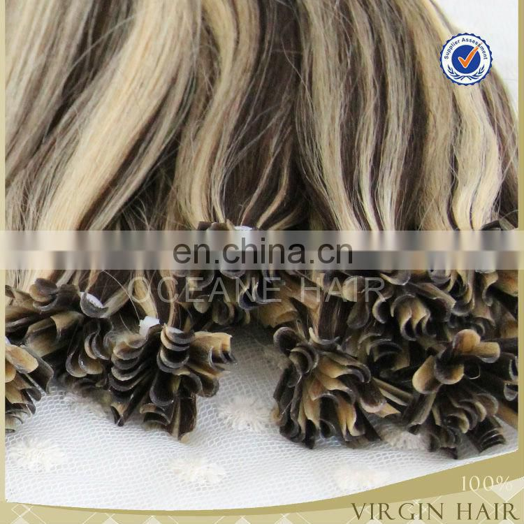 wholesale Pre Bonded Keratin curly Hair I/U/V/Flat u Tip curly Hair Extensions