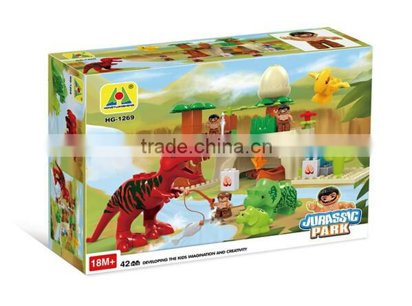 New arrive HG-1267 Fire Story Educational Toys children plastic intelligence building blocks for kids