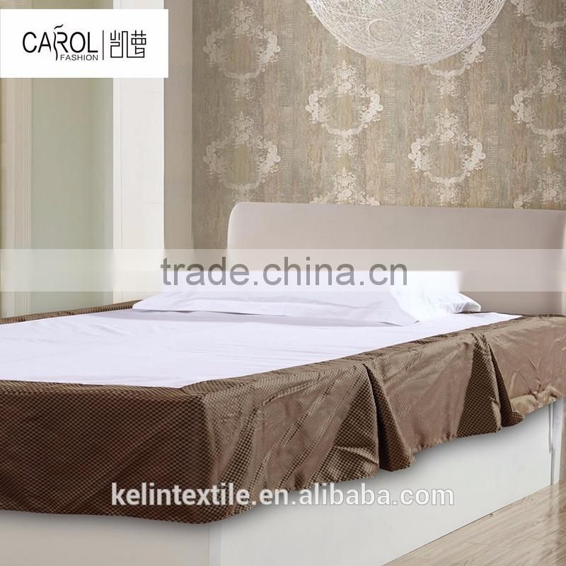 China wholesale cheap price hotel cotton fitted quilted bed skirt