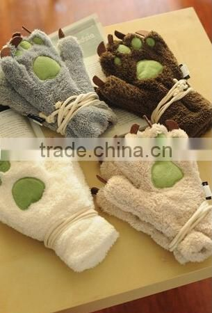 best selling paw plush bear paw gloves