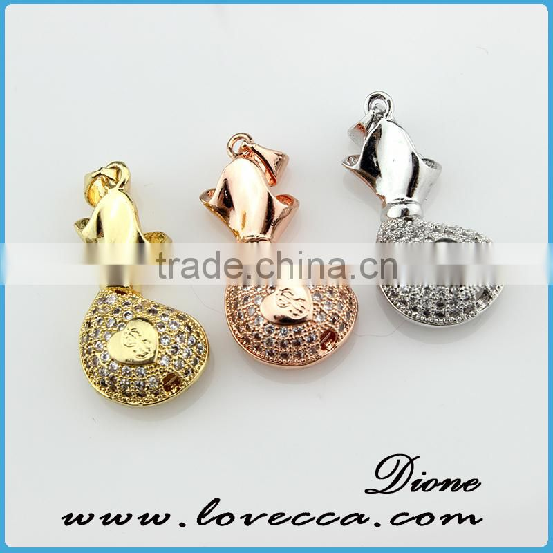 Latest Charm design ox mode of copper pendant jewelry &fashion jewelry of four leaf clover pendant