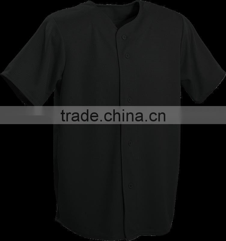 huge selection of 0c885 93ee5 All black plain baseball jersey wholesale custom baseball ...