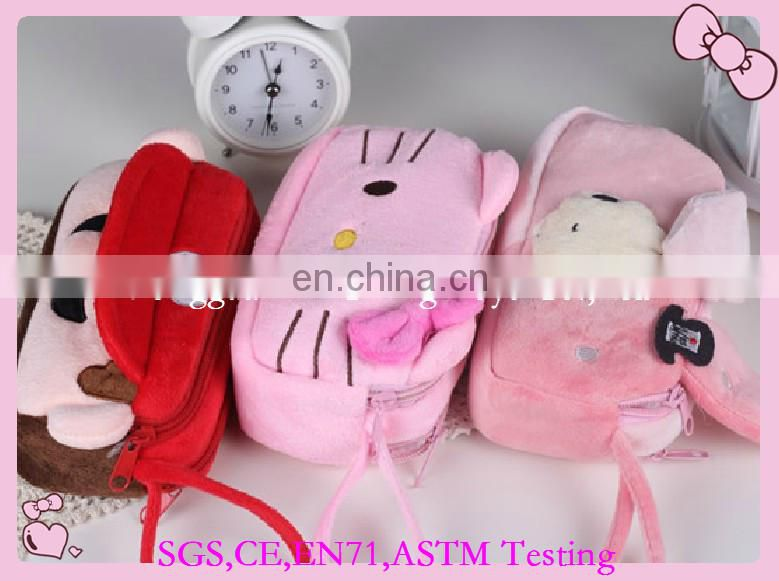 Hottest High quality plush animal pencil case pencil case OEM factory