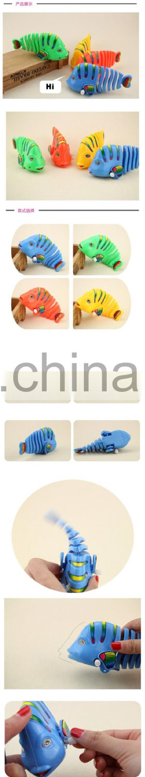 Clockwork Wind-up Colorful Mini Cute Robotic Fish Toy Activity Game Toddler Baby Gifts
