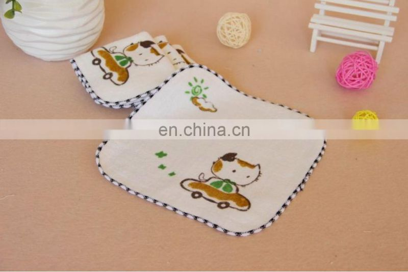 Wholesale Cut Pile Embroidered Covered Edge 100% Cotton Hand Towel For Baby