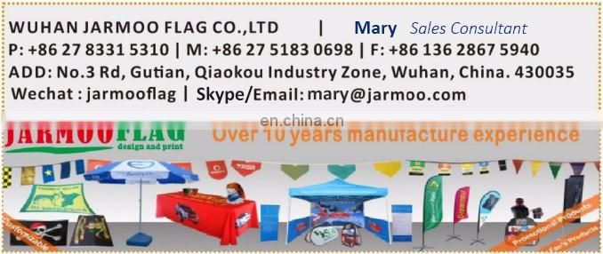 customized shape festival wall mounted flagpoles banner flags