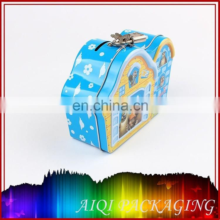 house shape christmas gift tin box/tin can/metal box