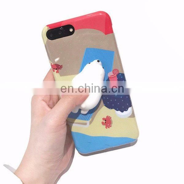 2017 Amazon Hot-selling Custom Logo TPR Kneading Squishy Phone Case for iPhone 6 Wholesale