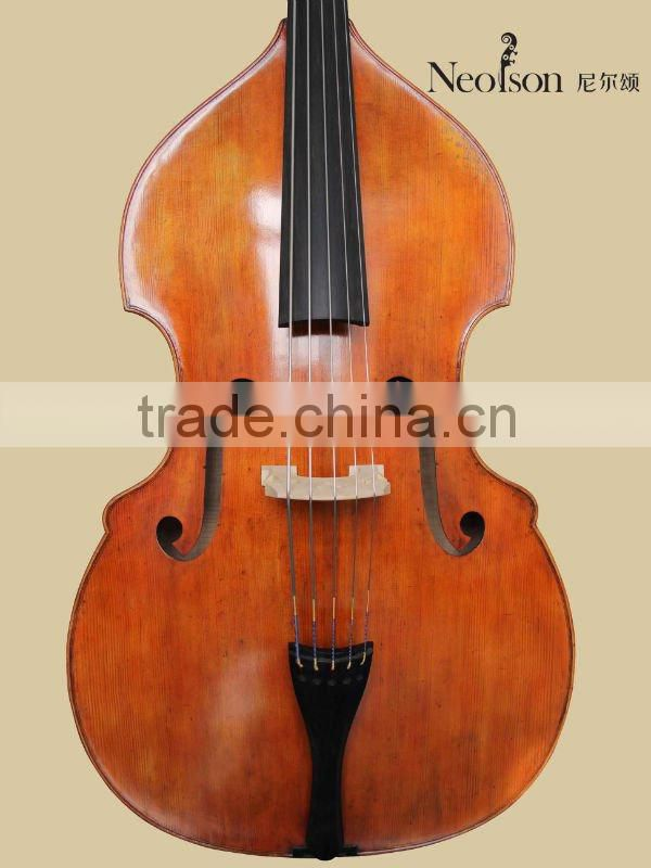 intermediate double bass/handmade carved 5 strings double bass made in China
