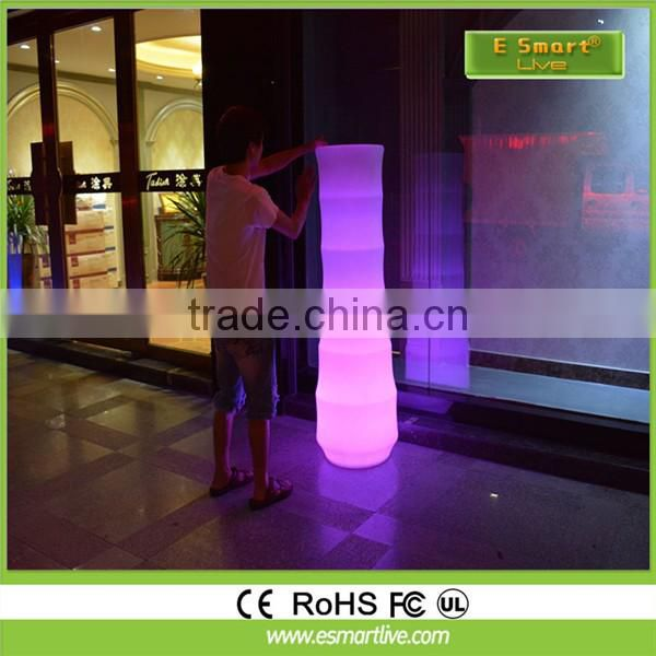 Home Garden Decor LED Color Changing Light Up Flower Pot