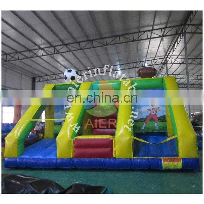 2016 Aier Outdoor inflatable basketball shootout,3 in 1 inflatable basketball hoop, hot sale inflatable basketball