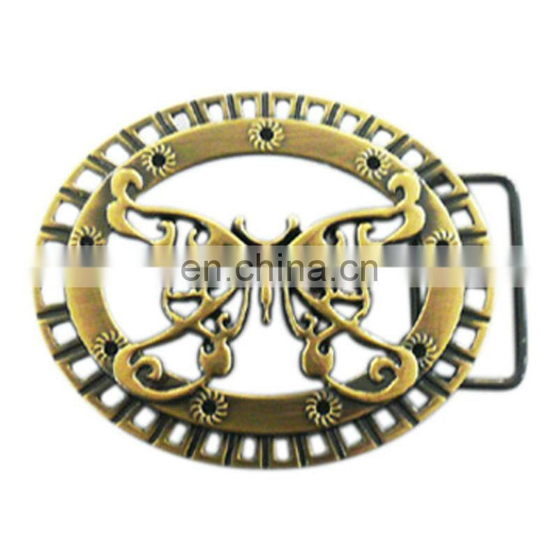 Antique brass 3d metal marine belt buckles