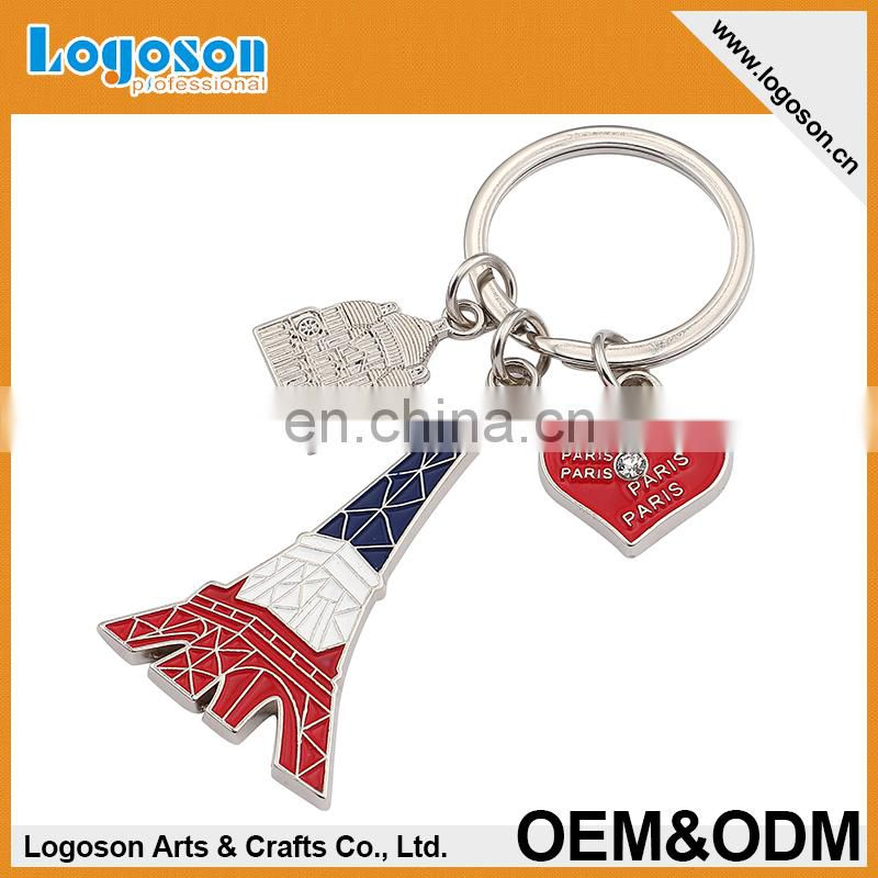 2015 Wholesale Custom Paris souvenirs gifts Eiffel Tower s letter keychain