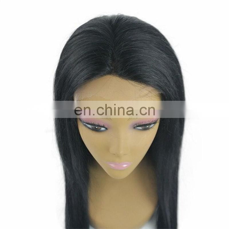Top quality remy human hair full lace wigs overnight delivery remy virgin indian straight human hair full lace wigs