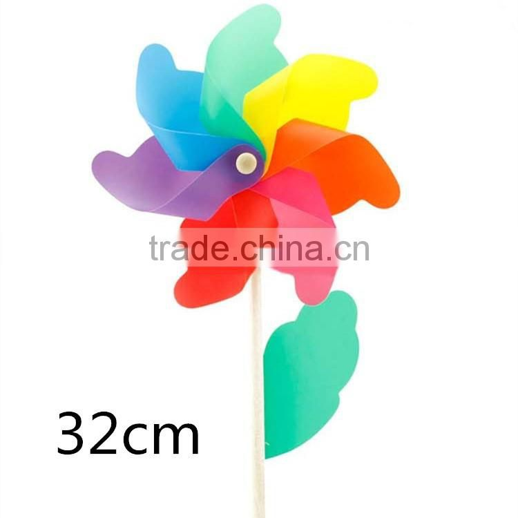 Summer hot sale toy colorful Windmill kids toy windmill splastic spinning toy windmill