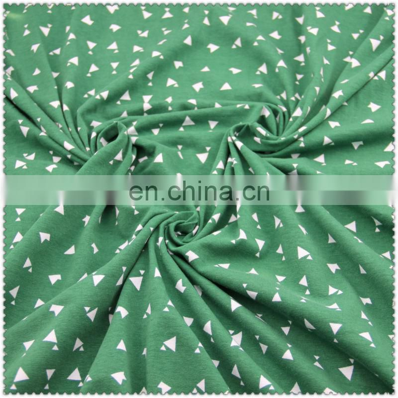 spendex cotton knitted fabric / printed spendex jersey