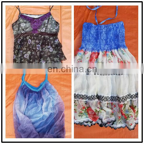 Used clothing mixed in bales African silk skirt used clothing singapore