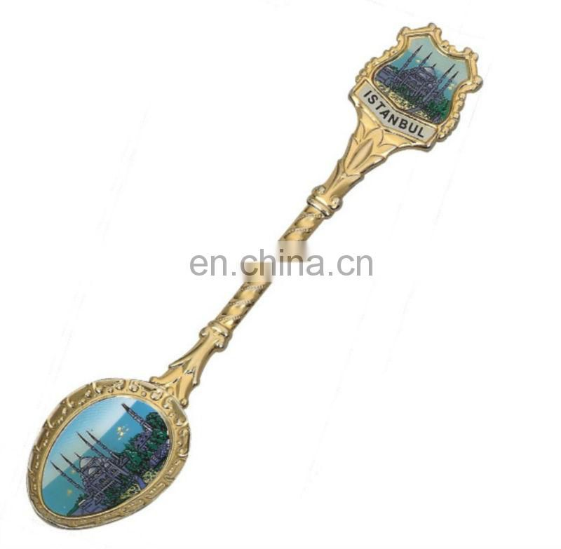 Top Quality Bulk Custom Logo And Design Antique Souvenir Metal Spoon