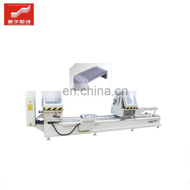 Two head miter saw upvc window door corner cleaning processing cnc machine machinpvc equipment with great price Image