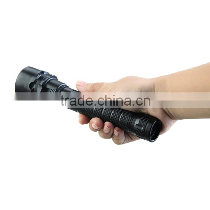 High quality led flash light!TrustFire DF007 scuba diving flashlight,swimming acceessories underwater Led self defence weapons