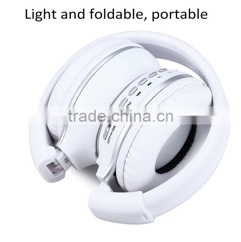 Stereo Wireless Headset Bluetooth headphone Headband with FM TF LED indicators for mp3