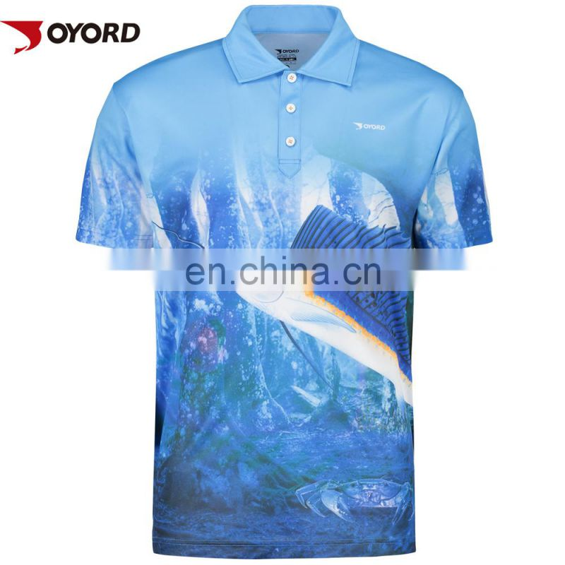 China OEM sublimation printing fishing apparel