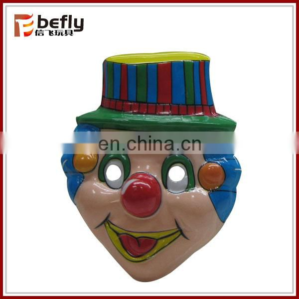 PVC toy joker clown mask for children