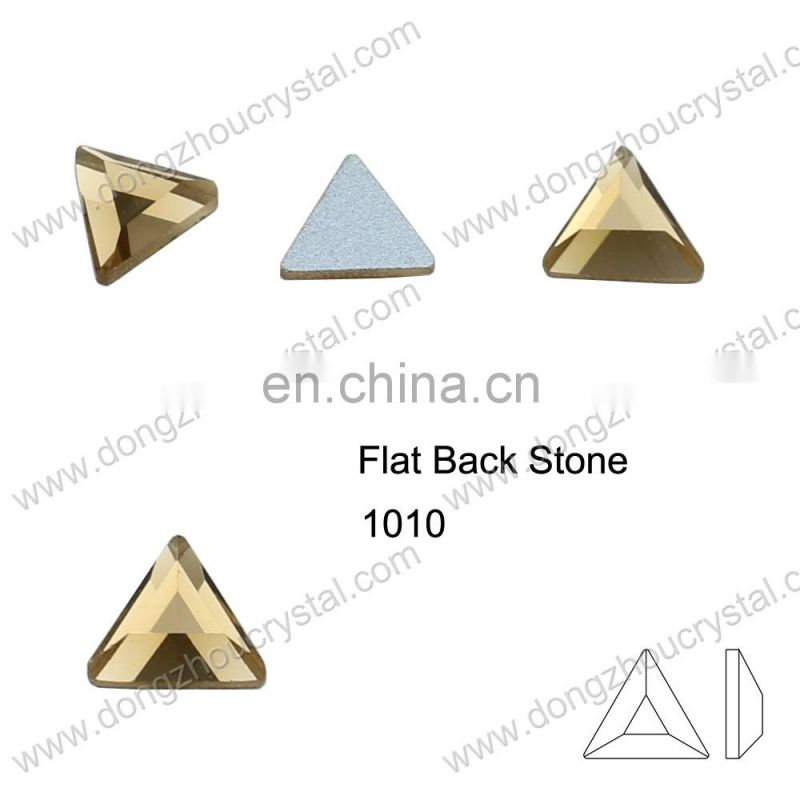DZ-1010 silver foiled flat back glass pendant stones for jewelry making