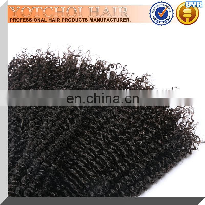 Afro kinky curly virgin hair weft