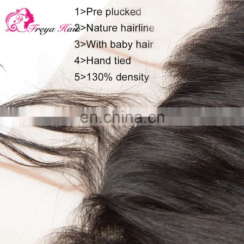 Silky Straight Wave Style and Human Hair Material Brazilian unprocessed ear to ear lace closures