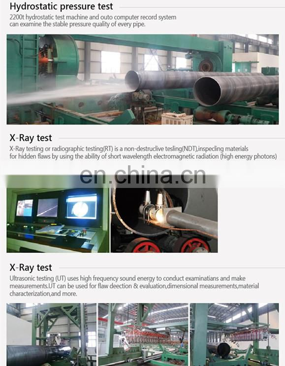 q235b 1200mm Diameter  SAW Spiral line carbon steel welded Pipe