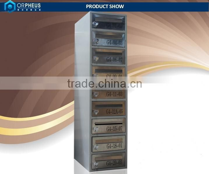 High quality household sundries stainless steel 9 door postal boxes
