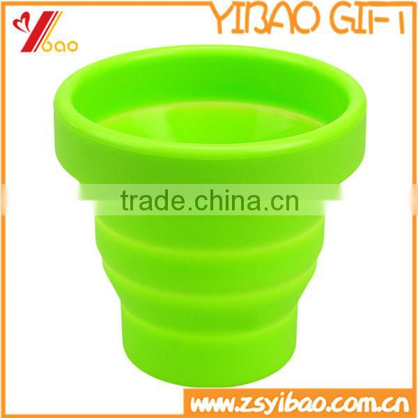 Silicone Food Grade Folding Cup Outdoor Travel Camping Reusable Heat-resistant Travel Cup