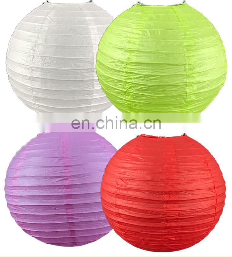 Round led paper lantern 8pcs 30cm different color per pack (support for custom pack) Chinese paper lantern with led light