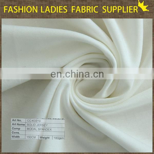 Garment use jersey knit fabric solid jersey single jersey fabric