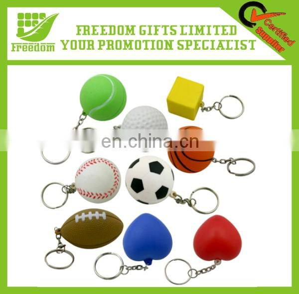 Good Quality Logo Printed PU Foam Keychain