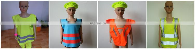 EN1150 pullover blue children safety vest for traffic protection