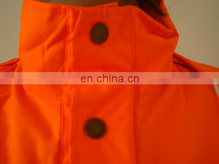 Hi-Vis Safety Padded Jacket With Reflective Tape,Fashionable Rain Jackets,Thicker Rain Jacket