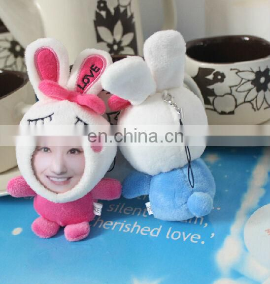 custom human face photo frame keychain toy