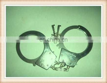 Yingxing silvery color kid metal handcuff toy