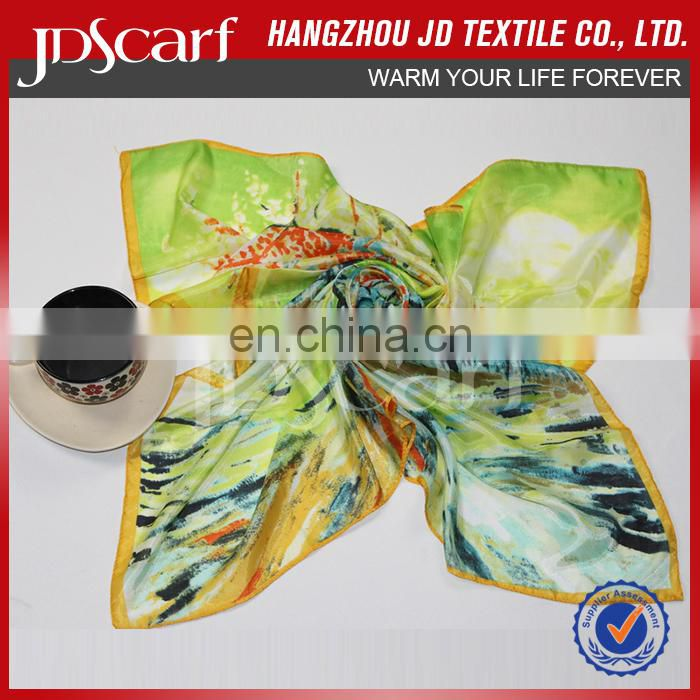 Factory direct low price for women wholesale spring 100% silky polyester scarf