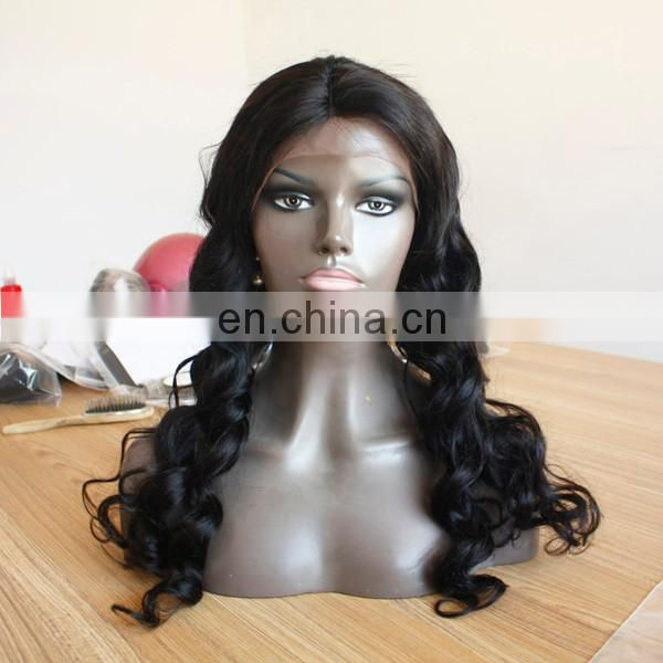 Silk Top Cheap Indian Human Hair Lace Wigs 100% Virgin Human Hair Full Lace Wig For Women